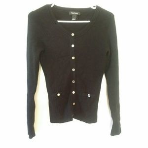 White House Black Market Black Sweater Size S